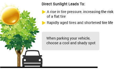 Direct Sunlight Tire Effects