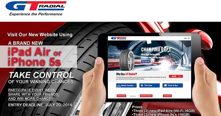 GT Radial Announces iPad Air & iPhone 5S Control Promotion Winners