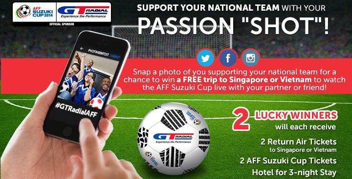 "GT Radial Announces ""Passion"" Photo Contest for AFF Suzuki Cup Fans"