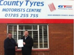 Stafford's County Tyres wins GT Radial Performance Centre award