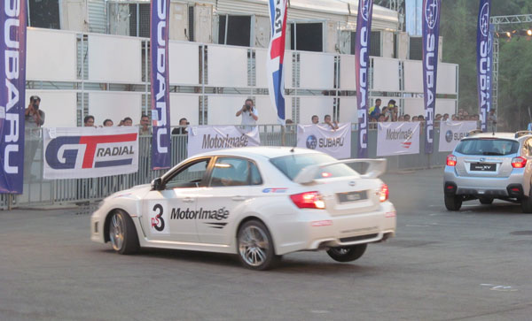 GT Radial Bring Back Rush Swift Stunt Show At IIMS 2014