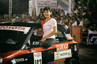 Alinka from TTI Shows Her 'Girl Power' in <br> GT Radial Indonesia Night City Slalom 2015 1st series<br>