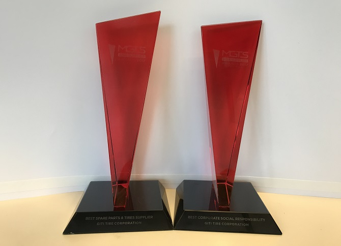 Giti Earns Best Tire Supplier and Social Responsibility Awards from MGTS