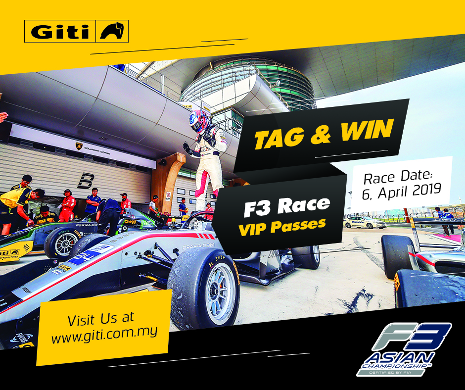 Tag & Win F3 Race VIP Passes 2019