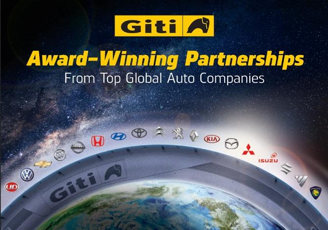 Parcerias OEM com os principais fabricantes de automóveis demonstram confiança no Grupo Giti Tire